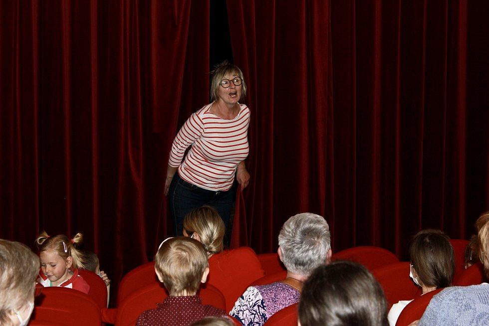Z pohádkového představení o Zlatovlásce v loutkovém divadle U Jelena v Bystřici.