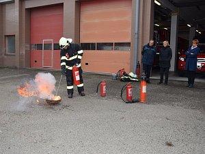 Setkání hasičů s učiteli v Benešově