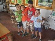 Malí táborníci si s ochránci přírody užili různorodý program.