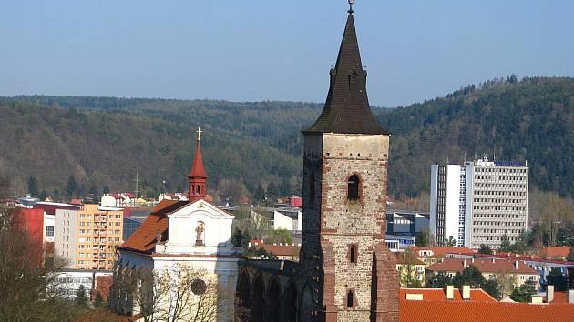 Areál sázavského kláštera.