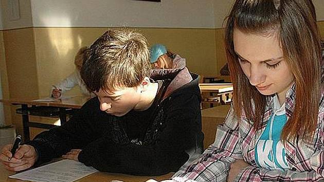 Přijímací zkoušky na středních školách.