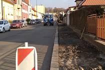 Práce v Zapově ulici v Benešově.