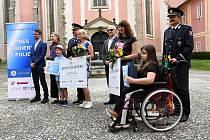 Slavnost k předání šeků s finančními dary handicapovaným dětem v pražském Muzeu Policie ČR.