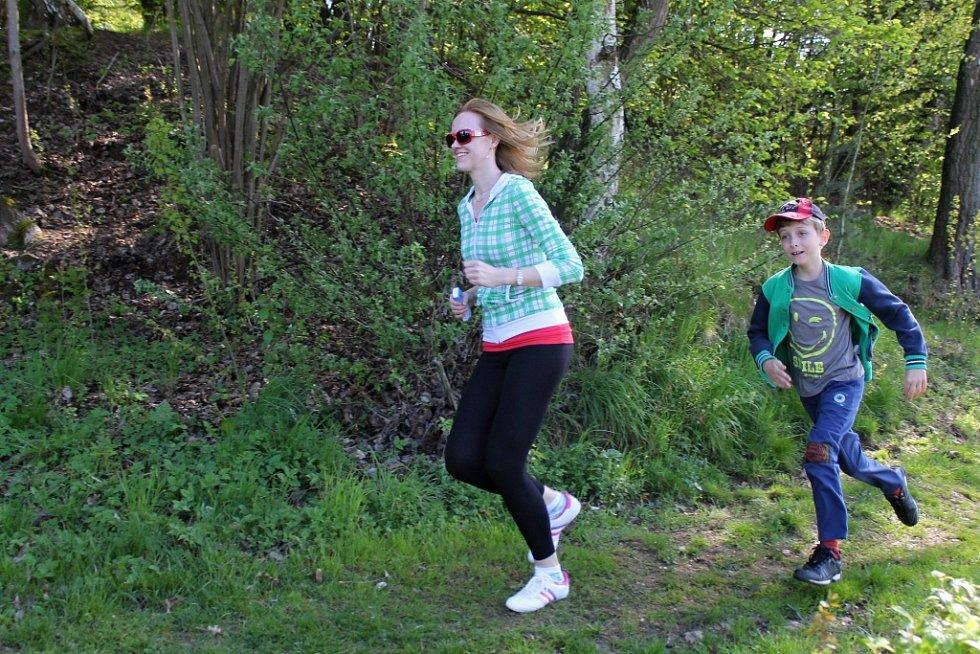 Běh kolem rybníků ve Vranově.