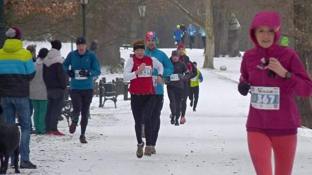 Zimní běh na Blaník 2016.