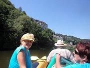 Jaroslav Doubek si splnil přání. S rodinou sjel řeku Sázavu.