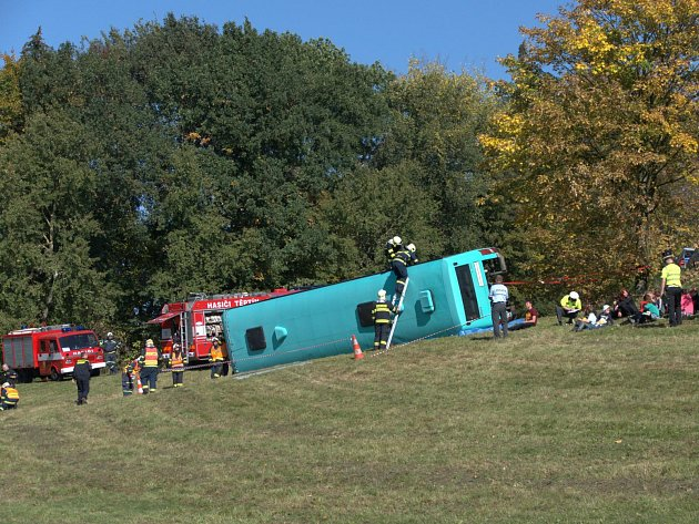 Havárie autobusu prověřila elektronický přenos informací i obrazu se zvukem.