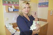 Kateřině Novotné Hanušové a Danielu Novotnému zHrusice se 21. dubna v12:25 narodila jejich prvorozená dcerka Alžběta. Při svém narozená malá Alžbětka Novotná vážila 2900 g.