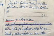 Práce žáků Základní školy Vrchotovy Janovice na téma, jaká pozitiva vidí na koronavirové karanténě.