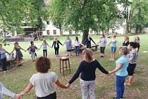 Prázdninový workshop v Týnci nad Sázavou.