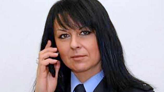 Eva Stulíková v době, kdy na Policii ČR v Benešov působila jako tisková mluvčí.