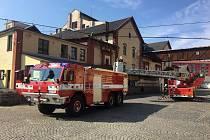 Ostrý zákrok hasičů v benešovském pivovaru.