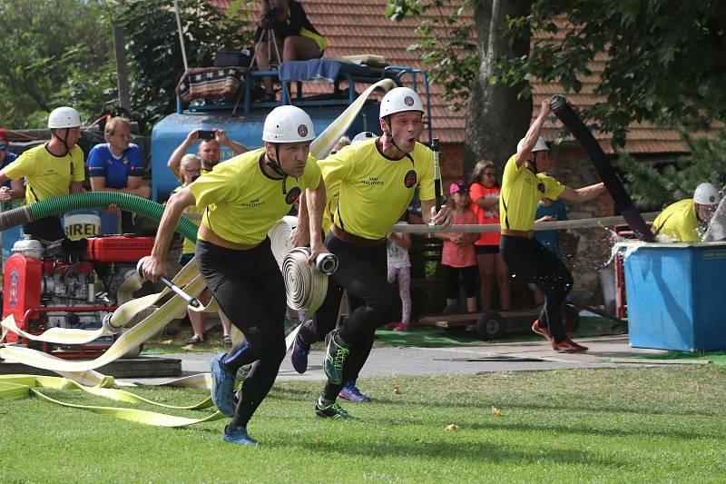 Z pátého kola Benešovské hasičské ligy v Malovicích u Miličína.