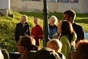 Na Keltském večeru byla představena figurína hraběte.