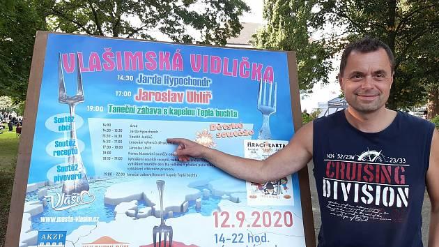 Na Vlašimské vidličce zvítězil v pojídání bramborových knedlíků Jaroslav Němec.