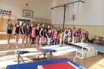 Soutěž malých gymnastů ze zájmových kroužků Domu dětí a mládeže Benešov.