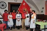 Prapor Vlasteneckého spolku pokřtil louňovický farář, slavnostního aktu se zúčastnily i zdejší ženy v krojích.