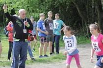 Start jedné z kategorií závodů v Čechticích.