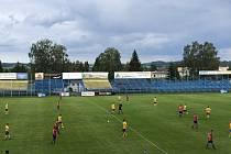 Ze zápasu SK Benešov - Viktoria Plzeň B