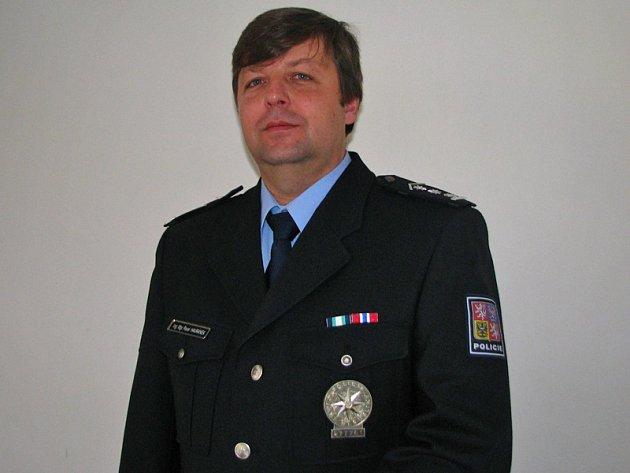 Plukovník Pavel Havránek, vedoucí Územního odboru Policie ČR Benešov.
