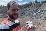 Geologická terapie v Centru sociálních služeb Tloskov.