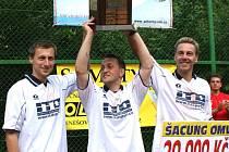 Vítězná trojice ITD Sport (zleva Libor Chytra, Petr Stejskal, Richard Makara).