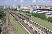 Začala stavba přeložky tratě mezi Hostivaří a Vršovicemi - zastávka Eden.