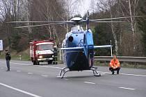 Vrtulník Letecké záchranné služby zasahoval i v Neveklově.