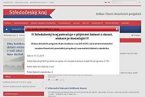 Informace o kotlíkové dotaci na webu Krajského úřadu Středočeského kraje.