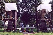 Oprava soch Panny Marie a sv. Jana vOlbramovicích vroce 2020