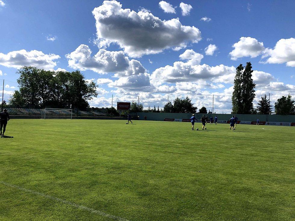 Ze zápasu Letní liga Slavia Praha B - Benešov