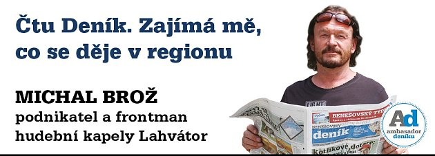 Ambasador Benešovského deníku Michal Brož.