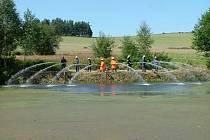 Ratměřická hasičská fontána.