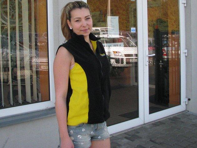 Kristýna Hrodková z Vranova absolvovala casting na Miss hasička Středočeského kraje 2015.