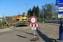 Část Konopišťské ulice v Benešově je uzavřená kvůli propojování kanalizačních stok až do neděle 9. listopadu.