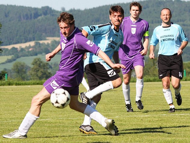 Fotbalový zápas okresního přeboru Olbramovice - Zdislavice