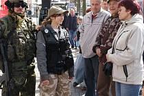Aktivní zálohy v Benešově na Masarykově náměstí