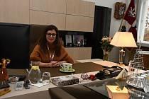 Pracovna hejtmanky Středočeského kraje Jaroslavy Pokorné Jermanové (ANO), kterou si veřejnost mohla prohlédnout v rámci dne otevřených dveří na krajském úřadu ve Zborovské ulici na pražském Smíchově.