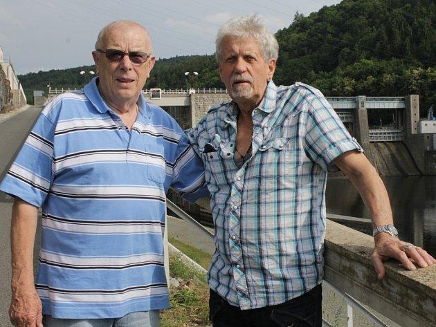 Helmut Gaensel a Siegfried Klein u štěchovické přehrady.