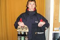 Lukáš Smítka z Hrazené Lhoty vyhrál 3. kolo Zimní Tipsport ligy BND a získal ručník od sázkové kanceláře Tipsport a pivo od pivovaru Ferdinand Benešov.