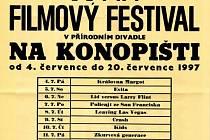 Poslední program letního kina na Konopišti.