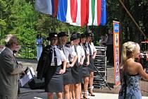 V amfiteátru na Konopišti finalistky hasičské Miss v sobotu 25. května několikrát vystoupí na pódiu při různých soutěžních disciplínách.