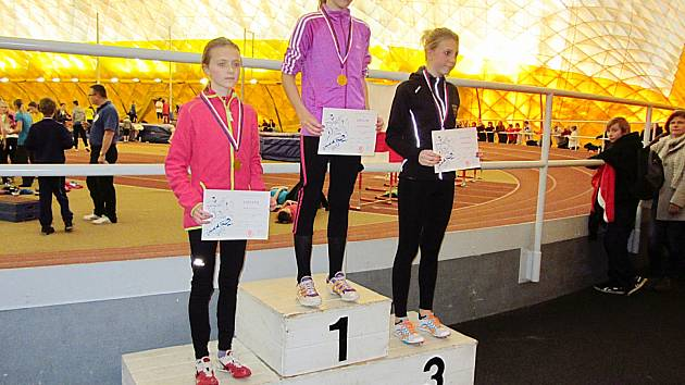 Šárka Hulmáková skončila v běhu na 1500 metrů na třetím místě.