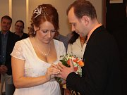 Svatba Leoše Kosmáka z Chotovic a Soni Paštikové z Benešova.