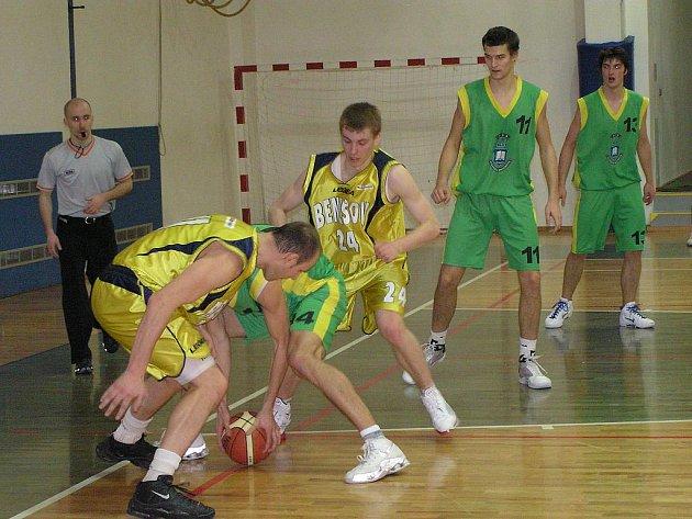 Basketbalový zápas 1. ligy BC Benešov - VŠB Ostrava 84:88.