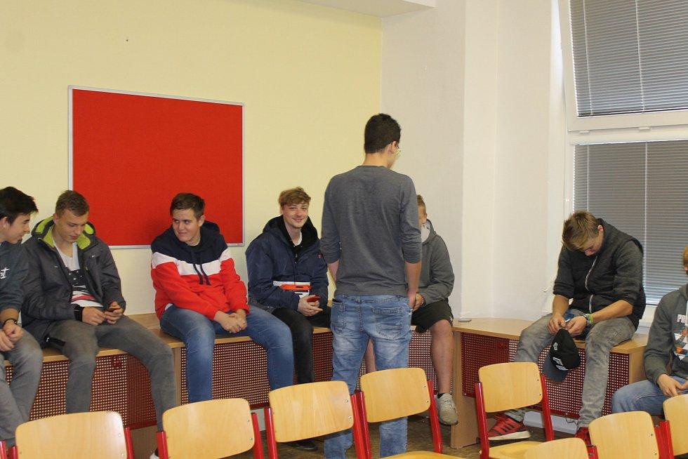 Z festivalu virtuální reality na Integrované střední školy technické v Benešově.