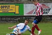 Autor posledního gólu Michal Budil sebral ve skluzu míč cerhovickému kapitánovi Tomáši Frydrychovi.