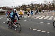 Novoroční vyjížďka benešovských cyklistů 2019.