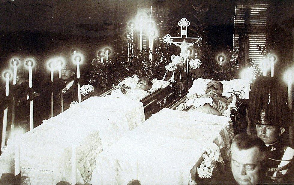 František Ferdinand d´Este a vévodkyně Žofie z Hohenbergu, rozená Chotková zemřeli v Sarajevu při atentátu 28. června 1914. Foto: archiv státního zámku Konopiště