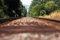 Železniční trať, ilustrační foto.